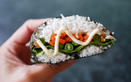 Zelf sushi sandwiches maken. Super leuk, lekker en makkelijk.
