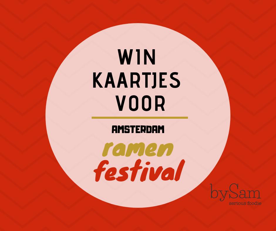 Amsterdam Ramen Festival kaartjes winnen
