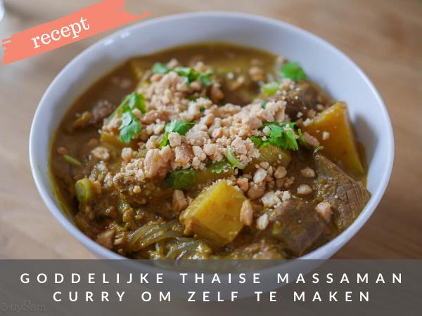 Recept Thaise curry massaman zelf maken