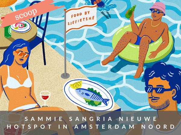 Sammie Sangria bar restaurant terras water Amsterdam NDSM