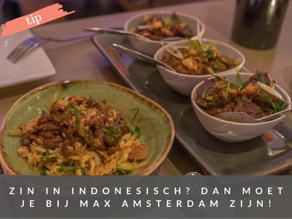 Restaurant MAX Amsterdam Indonesisch afhaal