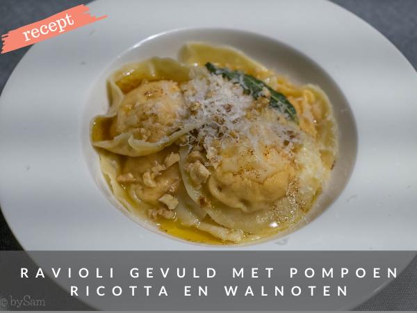 Recept gevulde pasta met pompoen en ricotta