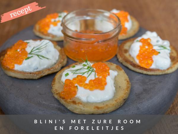 Recept blini's met viseitjes zure room