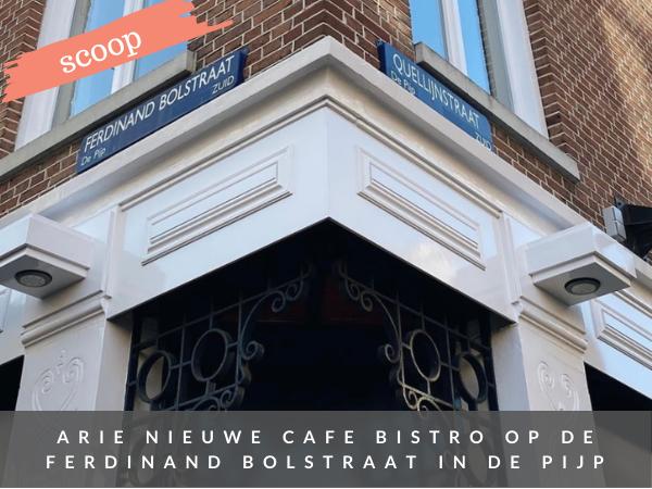 Nieuw ARIE in de Pijp Amsterdam cafe bistro Ferdinand Bolstraat