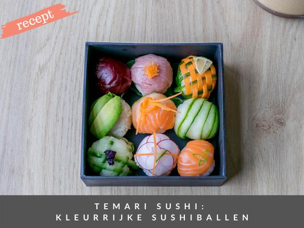 Japanse sushiballetjes temari recept
