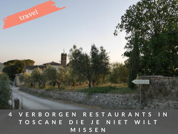Verborgen restaurants Toscane Italie
