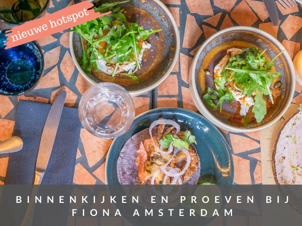 Mexicaans eten in Amsterdam Fiona restaurant